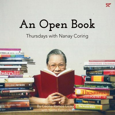 An Open Book: Thursdays with Nanay Coring